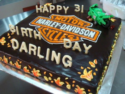chocolate cheese with Harley Davidson