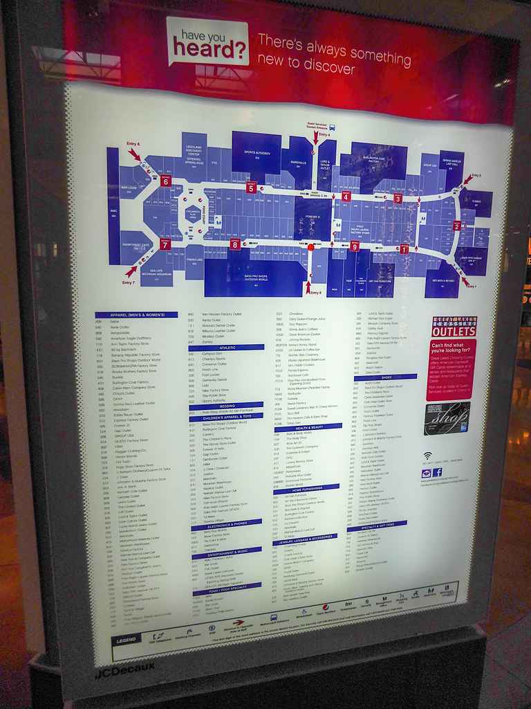 Lakes Mall Stores : lakes, stores, Great, Lakes, Crossing, Directory, Fairl…, Flickr