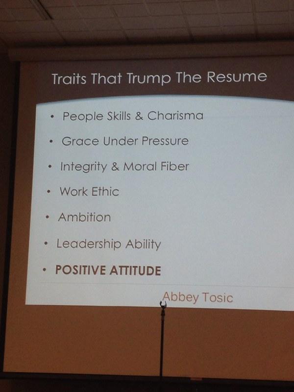 Traits that trump the resume #minnewebcon (via @abbeynormal)
