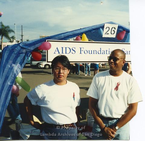 P001.332m.r.t San Diego Pride 1992: AIDS Foundation San Diego booth