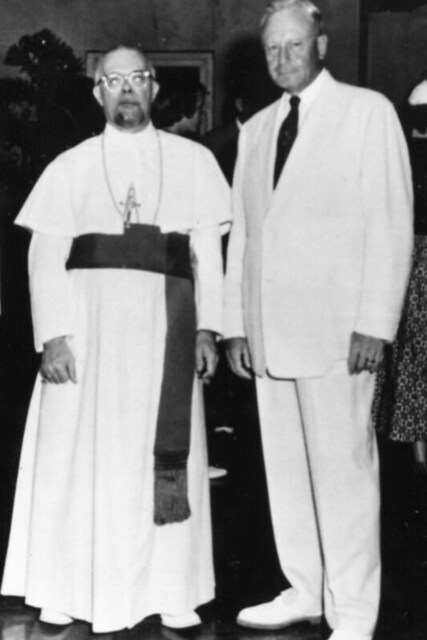 Bishop Baumgartner and Gov. Elvidge