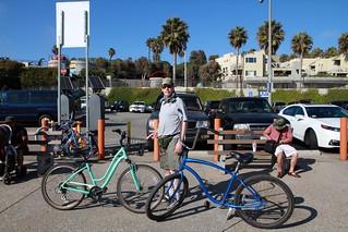 Man with bikes