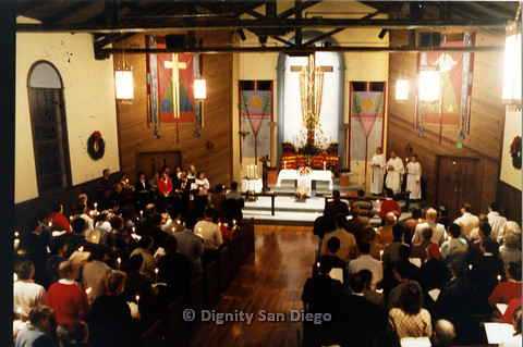 P103.022m.r.t Dignity San Diego, Christmas 1988: Standing congregation
