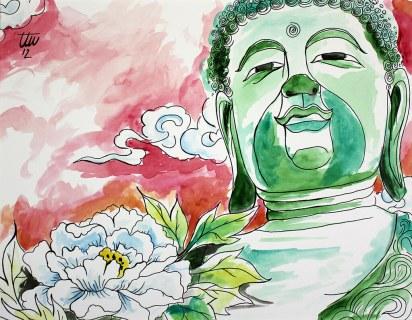 Buddha with Peony