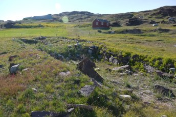 Viking longhouse remains