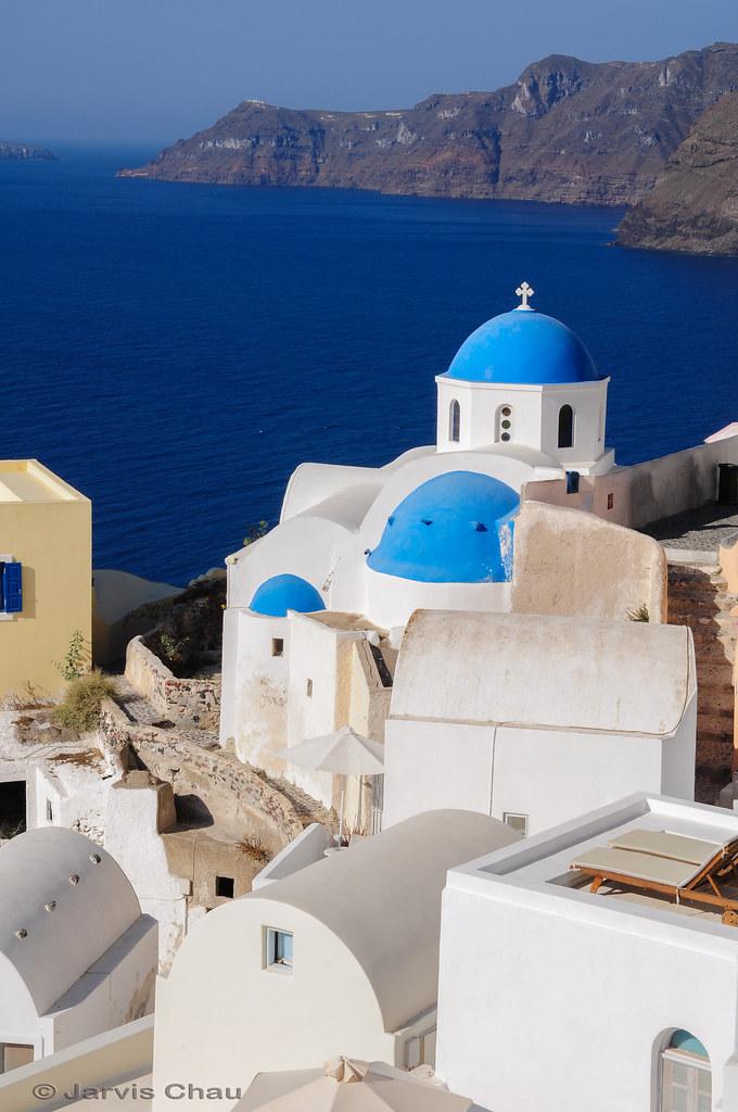 Blue Roof - Santorini Church | The blue roofs in Santorini. … | Flickr
