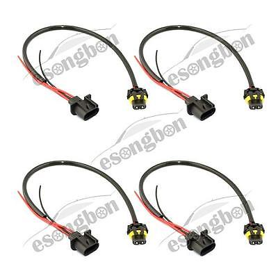 4) H13 9008 Male To 9006 Female Pigtail Headlight Conversi