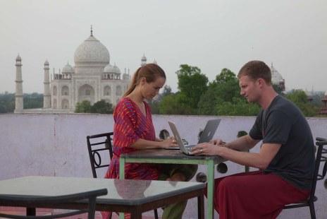 Taj Mahal Digital Nomads