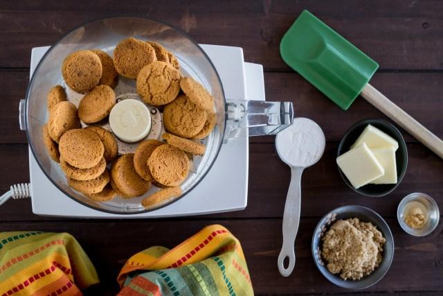 making gingersnap crumbs