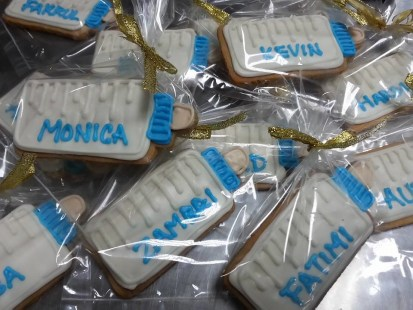 Cookies from baby Eden's parent to their colleagues
