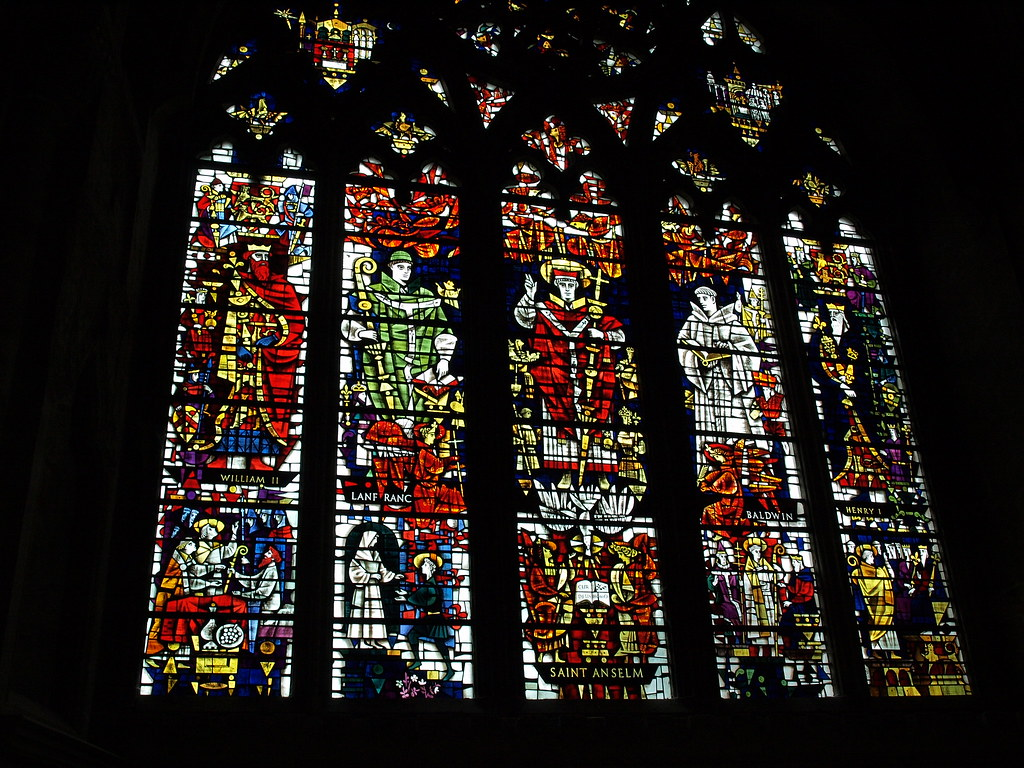 Stained glass in Canterbury Cathedral