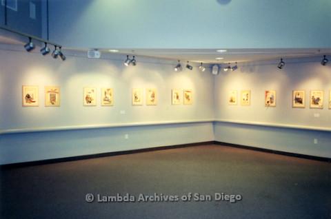 P126.039m.r.t Michelangelo Project by Jim Machecek: Exhibit walls