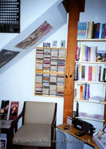 P168.055m.r.t Paradigm Women's Bookstore Kettner Location: Corner of bookstore with audio-listening area