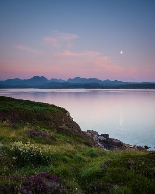 Moonrise over the Torridon Mountains III