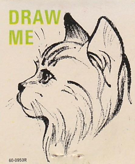 vintage matchbook draw me