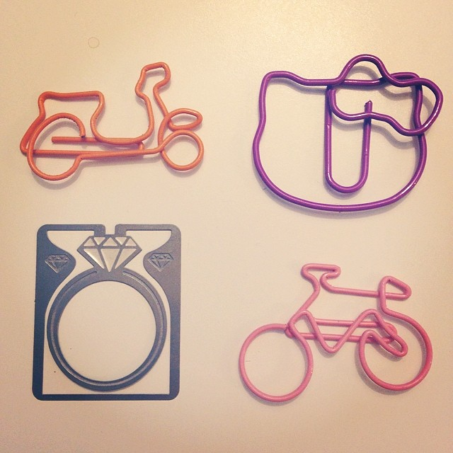 some cute new paperclips
