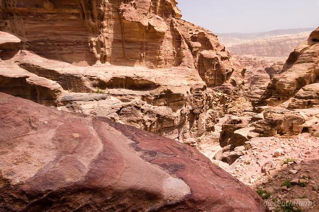 Colourful sandstone