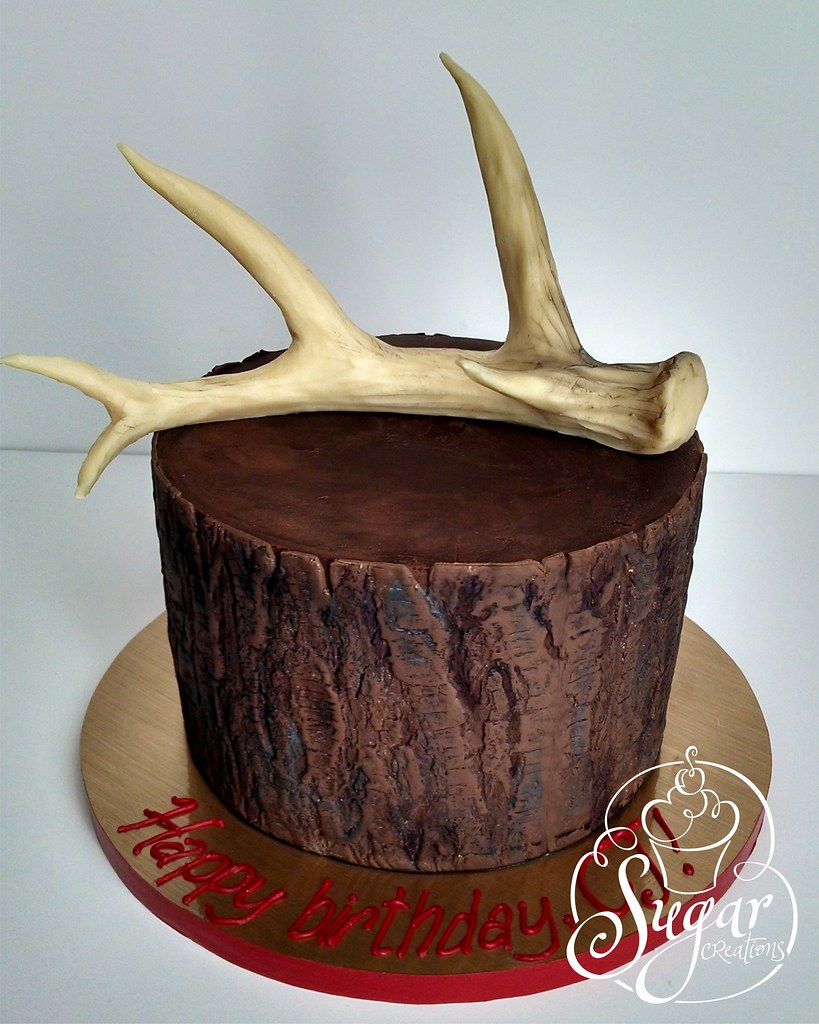 deer antler birthday cake
