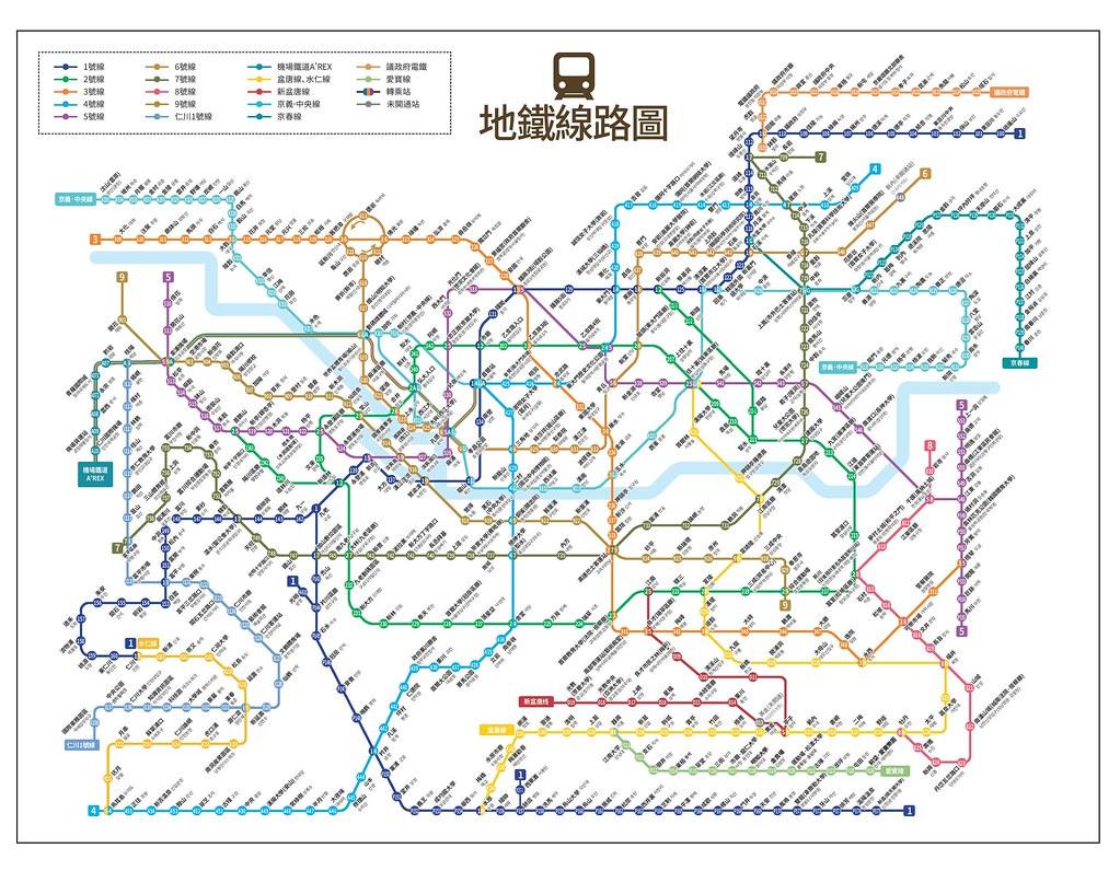 首爾地鐵線路圖(繁+韓+編號)2015年發行新版3420-2660尺寸   首爾地鐵線路圖(繁+韓+編號)新版3420-…   Flickr