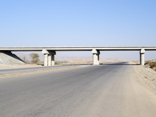 Many hundreds of km of empty steppe, and gloriously empty roads, on the way to the Kyrgyz border