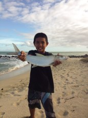 Nice Oio caught by Gaven and his family. Thanks Gary for the Tako.