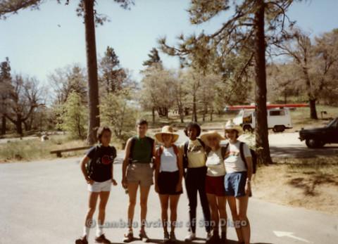 P008.087m.r.t Laguna Mountains 1984: Group photo