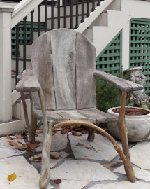 Marcella Marie Concrete Adirondack Chair. Ferrocement