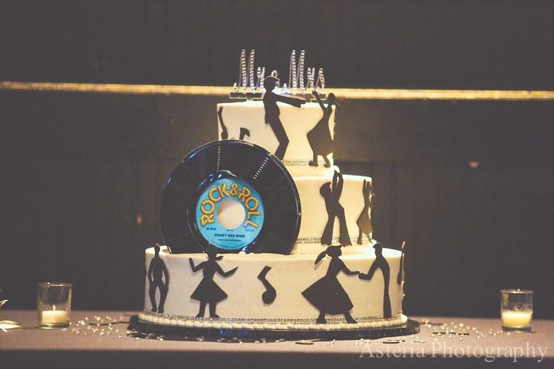 Rock n' roll wedding cake