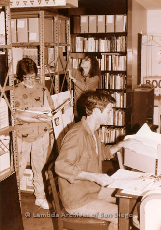 P126.035m.r.t Bruce Kamerling and others working at Lambda Archives