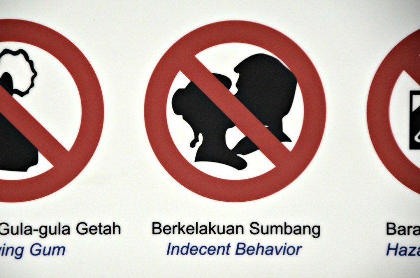 Image result for indecent behavior signs on lrt malaysia