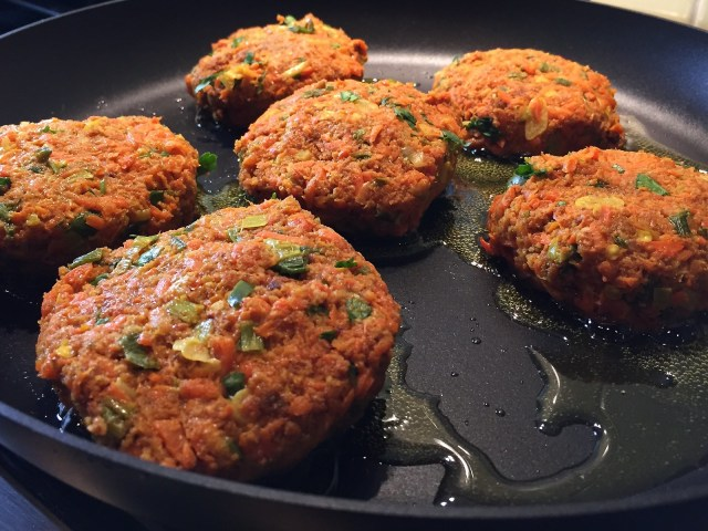 cooking the patties
