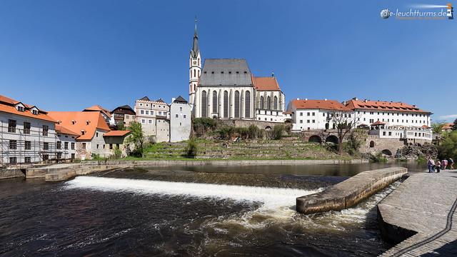 The gothic church of Český Krumlov