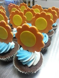 1st year baby shower cupcake