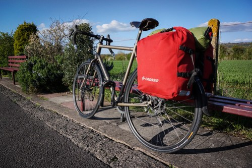 Kona Sutra 2014 with rear panniers