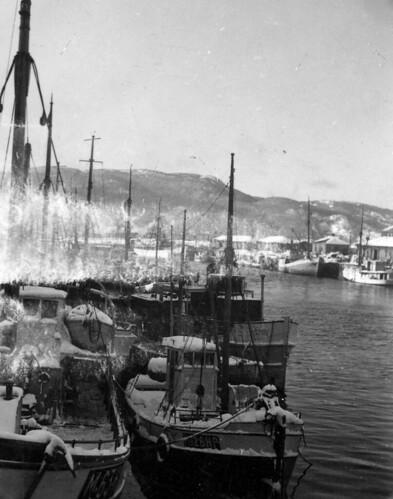 Vestre kanalhavn sett fra Merakerbrua 1942  Format Svart  Flickr