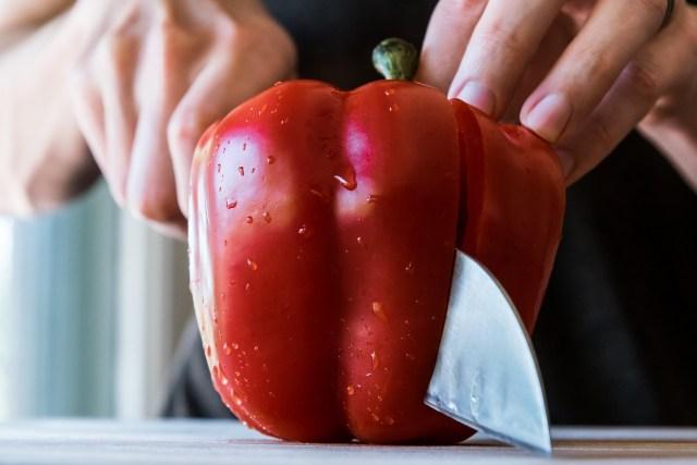 crisp red bell pepper