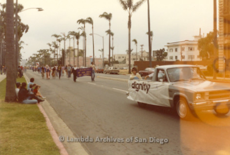 1982 - San Diego Lambda Pride Parade, 'Dignity' of San Diego Gay Catholics parade Contingent.