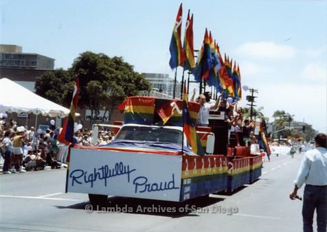 P018.038m.r.t San Deigo Pride Parade 1988: Long Beach Lesbians float