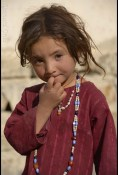 Shikriya, young Wakhi girl Qala e Panja © Bernard Grua
