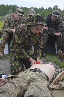 Chest wound | A soldier with the Ukrainian Land Forces ...