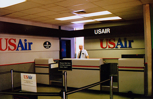 Chicago Midway Airport - US Air - Ticket Counter | (02Jul95)… | Flickr