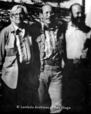 Morris Kight(left) and Jess Jessop(center), c.1974