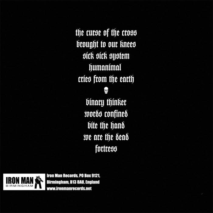 Police Bastard - Confined CD Back Cover