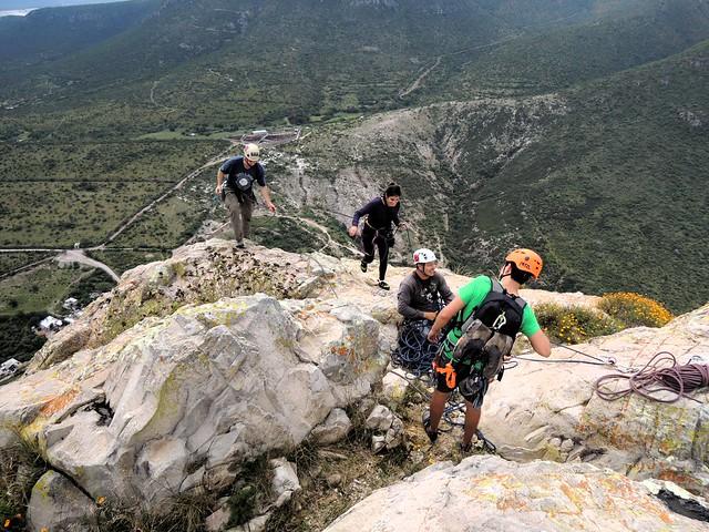 The top -- ¡La Peña de Bernal! -- Sergio, Fernanda, Isaac, Ayex by bryandkeith on flickr
