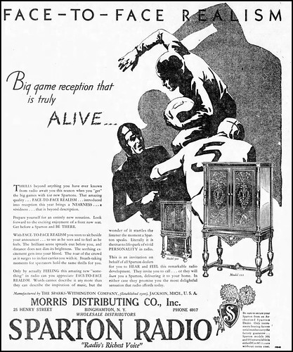 Vintage Newspaper Advertising For The 1931 Sparton Console