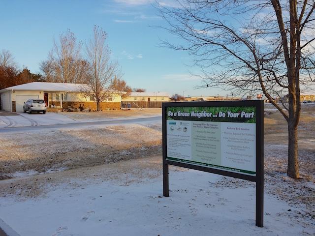 WRAPS signs 3 behind Day's Inn, Hays, KS Dec 2014