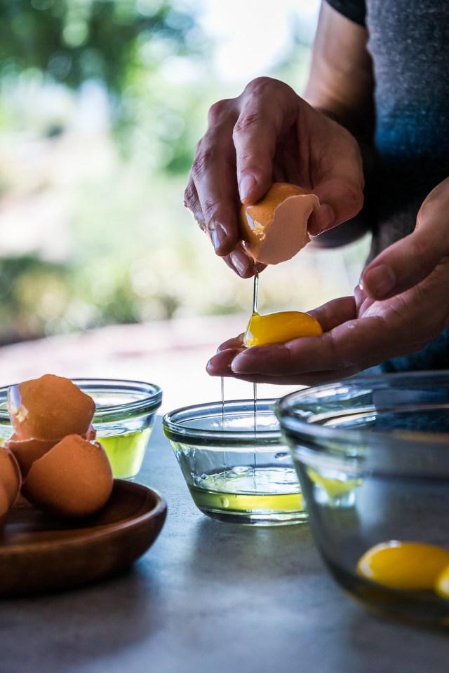 separating 5 egg yolks