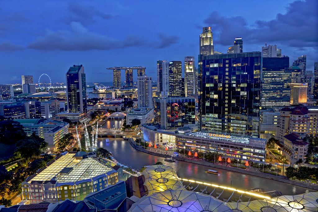 Clarke Quay, Singapore. A must visit outlet for tourist.