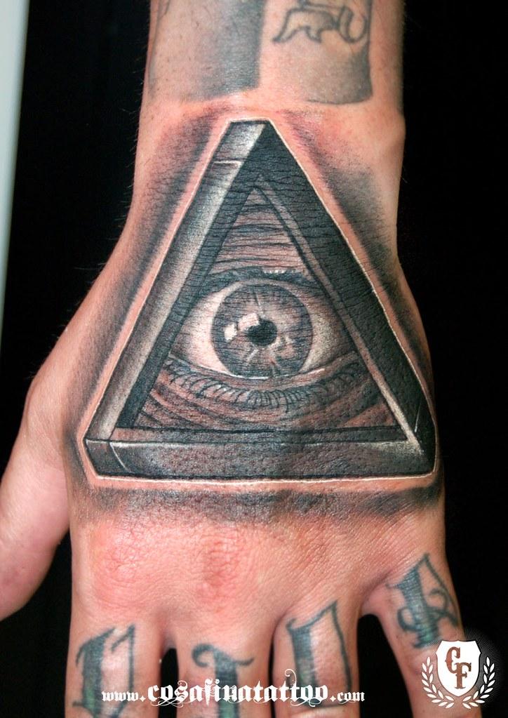 Tatuaje Mano Iluminati Ojo Triangulo Tattoo Hand Illuminat Flickr