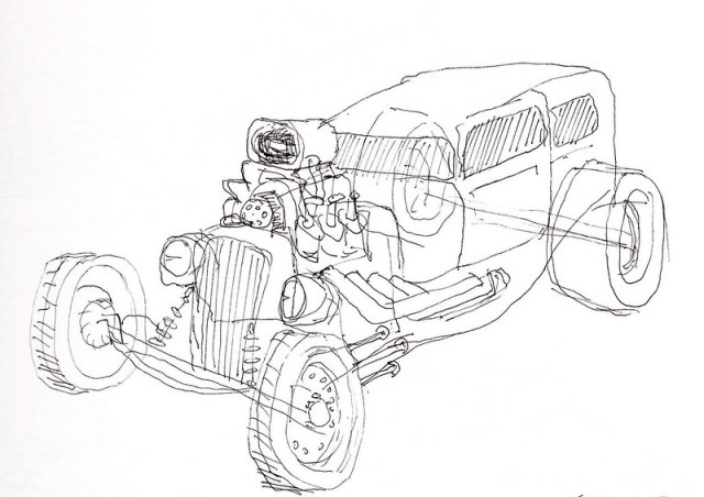 Hot Rod Sketch